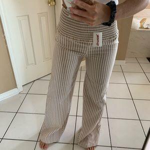 Bell Bottom Striped Pants